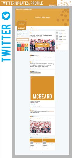 Guía de diseño para el nuevo Twitter #infografia #infographic #socialmedia