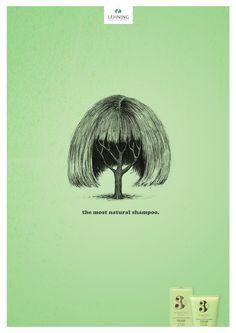 Lehning shampoo: Most natural, 1     The most natural shampoo.  Advertising Agency: Havas 360, Paris, France