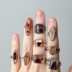 Antique & Vintage Agate Rings at TheDeeps