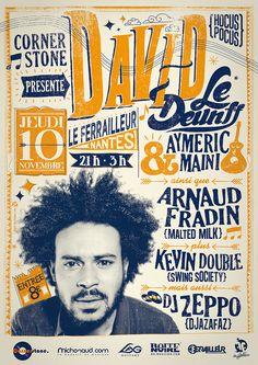 David Le Deunff Concert Poster — artist unknown
