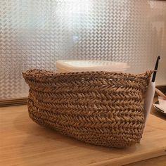My Picot, Herringbone Stitch, Tote Bags Handmade, Small Bags, Pouch, Geek Stuff, Crochet Hats, Basket, Diy Crafts