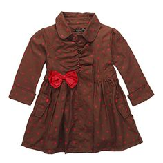 Little Girls Polka Dot Trench for Kids Fashion Outerwear, Free Shipping K2661 from Reliable Little Girls Polka Dot Trench suppliers on FANCY TEAM - Best Supplier From China