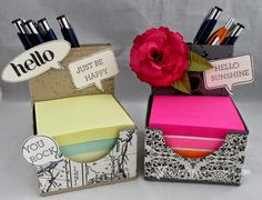 Stamp & Scrap with Frenchie: May Project Post It Note Holder