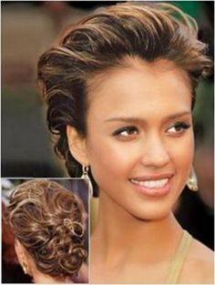 Simple but elegant bridal hair style GET LISTED TODAY! http://www.HairnewsNetwork.com  Hair News Network. All Hair. All The time.