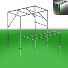 Parkour-Gerüst ohne betonieren Start Bodyweight, Parkour Equipment, Swing Set Parts, Backyard Gym, Diy Swing, Galvanized Pipe, Diy Pipe, Racing Events, Clamp