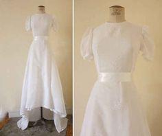 1940s Cotton Wedding Dress, $325
