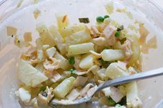 Falscher Kartoffelsalat mit Kohlrabi statt Kartoffeln