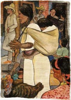 Turkey Market (1935) Diego Rivera