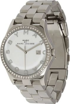 #2 Marc by Marc Jacobs Women's MBM3044 Henry Glitz White Dial Watch Marc by Marc Jacobs,