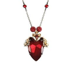 ERICKSON BEAMON Necklace ($430) ❤ liked on Polyvore featuring jewelry, necklaces, accessories, red, pendant necklace, rhinestone pendant, red necklace, red jewelry and red rhinestone necklace