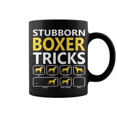 I Love Stubborn Boxer Tricks Dogs Mug T-Shirt