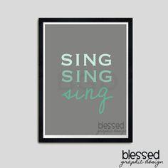 sing sing sing etsy print
