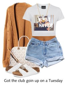 A fashion look from August 2015 featuring Birkenstock sandals, MICHAEL Michael Kors handbags and Minnie Grace necklaces. Browse and shop related looks. Cute Casual Outfits, Swag Outfits, Dope Outfits, Stylish Outfits, Batman Outfits, Hipster Outfits, Teen Fashion, Fashion Outfits, Womens Fashion