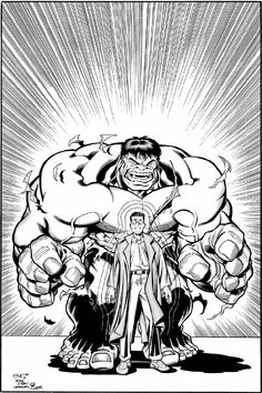 Hulk by Ed Mcguinness Comic Book Artists, Comic Books Art, Comic Art, Amazing Artwork, Cool Artwork, First Hulk, Hulk Artwork, Red Hulk, Comics Love