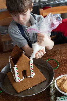 How to make a gingerbread house in easy steps from @Aimee   Simple Bites
