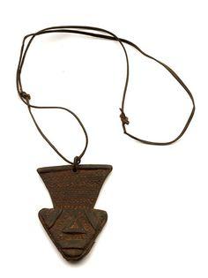 Africa | Leather amulet ~  'shira n'elem' ~ from the Tuareg.  Gao region, Mali | 20th century