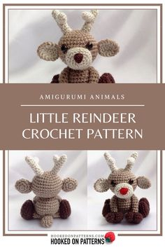Reindeer crochet pattern - Noel: A cute little sitting reindeer Amigurumi, perfect for Christmas ornament decorations and gifts. Modern Crochet Patterns, Christmas Crochet Patterns, Crochet Patterns For Beginners, Doll Patterns, Crochet Christmas, Crochet For Kids, Hand Crochet, Free Crochet, Crochet Clothes