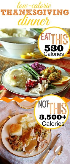 Thanksgiving Dinner for only 530 Calories (including DESSERT)! And it's delicious!