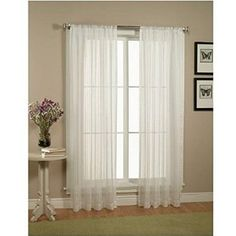 """2 Piece Solid White Sheer Window Curtains/drape/panels/treatment size 60""""x84"""""""