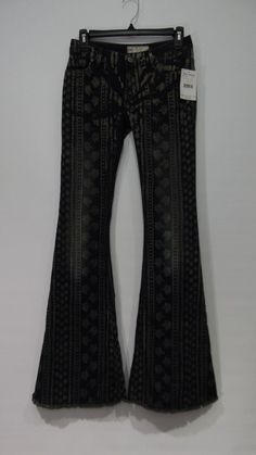 NWT Free People Century STRIPE Denim Bali Flare Jeans 25 #FreePeople #Flare