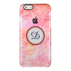 Monogram | Personalized Rose Uncommon Clearly™ Deflector. Ultra Slim Clear iPhone 6/6S Plus, iPhone 6/6S, iPhone 5/5S Cases
