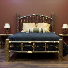 Hickory Log Sunrise Bed $859 like this one, the site is okay.