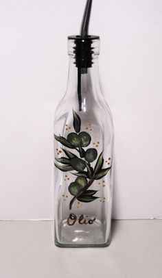 Olive Oil Decorative Bottles Hand Painted Olive Oil Bottlemaudesboutique On Etsy $2500