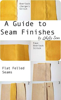 Sew 4 of the most popular seam finishes  How to finish seams - Melly Sews