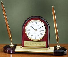 Desk Clock Pen Set with Free Engraving >>> To view further for this item, visit the image link.