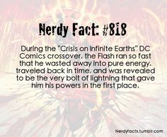 """Nerdy Fact #818  The Flash - """"Crisis on Infinite Earth"""" NOW THAT'S COOL!"""