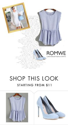 """Romwe"" by begajeta2309 ❤ liked on Polyvore featuring Kerr® and Miu Miu"