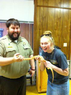 kiley touching snake.....oooooooh