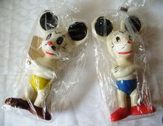 Spielzeugfiguren - Vintage Micky Maus - groß, DDR 70er/ 80er - ein Designerstück von Hedwig-Marlene bei DaWanda
