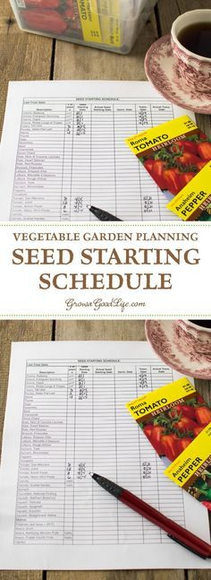 Developing a seed-starting schedule ahead of time makes it easy to know which seeds you should be starting each week.