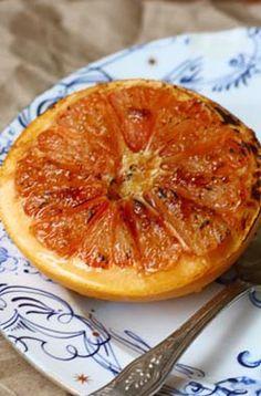 Broiled Grapefruit with brown sugar
