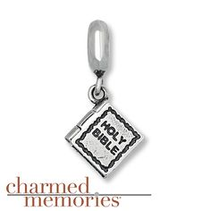 Charmed Memories Holy Bible Charm Sterling Silver