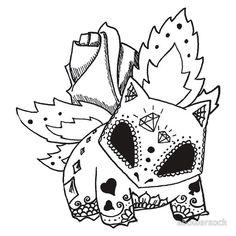 Ivysaur de los Muertos | Pokemon & Day of The Dead Mashup