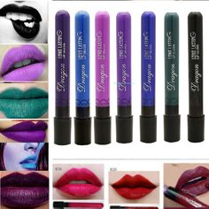 Long Lasting Gothic Lip Liquid Pencil Matte Lipstick Makeup Waterproof Lip Gloss #Unbranded