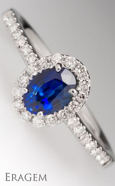 Sapphire, the September birthstone makes a lovely engagement ring center stone.