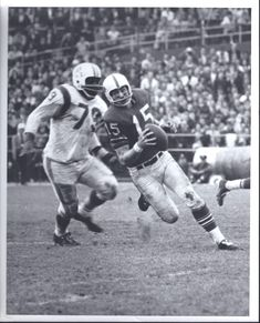 Jim Lee Hunt has Jack Kemp of the Buffalo Bills in his sights.