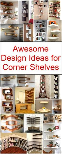 Let's decorate your home in a unique and delightful manner with these thought-provoking corner shelves designs. These awesome designs are easy to craft at own. Now you can easily surprise everyone with your admirable creativity and marvelous decoration of Corner Shelf Design, Diy Corner Shelf, Corner Shelves Bedroom, Corner Shelving, Corner Designs, Unique Home Decor, Diy Home Decor, Decoration Crafts, Copper Decor