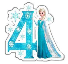 Topo Frozen   Decoração Festa Frozen, Festa De Aniversário Frozen Birthday Party, Frozen Theme Party, Disney Princess Frozen, Elsa Frozen, Anna Und Elsa, Frozen Images, Frozen Party Decorations, Happy Birthday Printable, Frozen Cake Topper