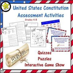 California state latitude longitude coordinates puzzle 44 learning about the united states constitution these no prep assessments and activities about the ccuart Gallery