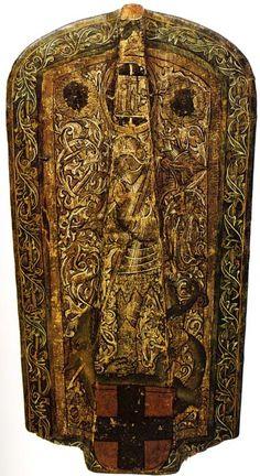 Pavise, with St.George and the Dragon, Vienna, ca 1480 (Wiener Burgelische Zeughaus - Inv Nr.126.109)