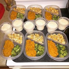 When @beth_y100 calls you out on not meal prepping....you meal prep. Had a fabulous weekend and ate like crap now it's time to make up for it. Simple yet satisfying for the rest of the week. Chicken breast sweet taters broccoli and rice. Thanks for keeping me in check Beth. Is #mealpreptuesday a thing? #mealprepmonday #mealprepsunday #fitness #instafit #fitfam #dedication #cleaneating #gains #gymflow #noms #foodporn #girlsthatlift #girlsthatsquat #girlswithmuscles #absaremadeinthekitchen…