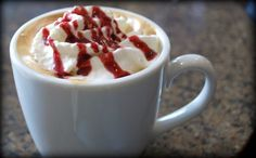 Raspberry Mocha Vi Shake      8-16 oz. 2% or Fat free milk  1 tbsp. Hershey's Cocoa- Natural Unsweetened  1  tbsp. Raspberry syrup (preferrably sugar free)  1 tsp. instant coffee  2 Scoops Visalus Shake Mix
