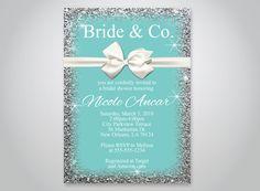 INSTANT DOWNLOAD - BRIDE & CO. BRIDAL SHOWER INVITATION, BREAKFAST AT TIFFANYS, WHITE BOW THEME INVITATION, OLDP02,