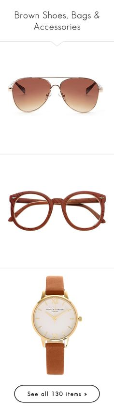 """Brown Shoes, Bags & Accessories"" by carlou863 on Polyvore featuring accessories, eyewear, sunglasses, glasses, animal print glasses, lightweight glasses, lens glasses, lightweight sunglasses, block sunglasses et eyeglasses"