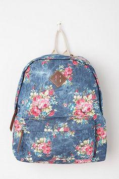 Steve Madden Floral Acid Patch Backpack