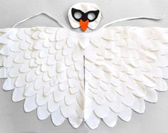 Kids Owl Costume Childrens Mask and Wing Cape Dress by BHBKidstyle